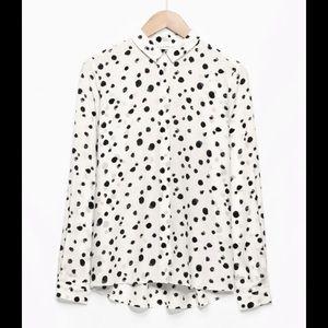 & Other Stories silk button down shirt